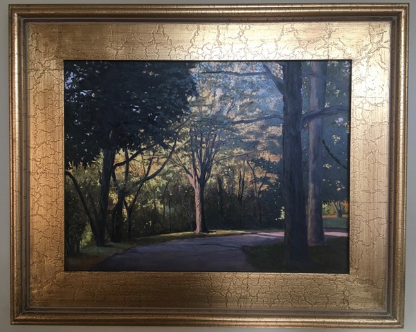 Scenic painting of Greenlawn Cemetery